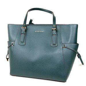 Michael Kors Voyager Medium Crossgrain Leather Bag